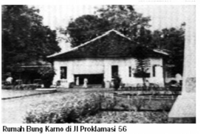 Rumah asli Bung Karno di Pegangsaan nomor 56.