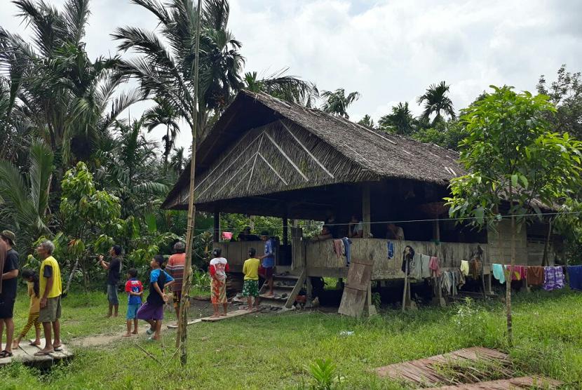 Rumah di Mentawai, Sumatra Barat