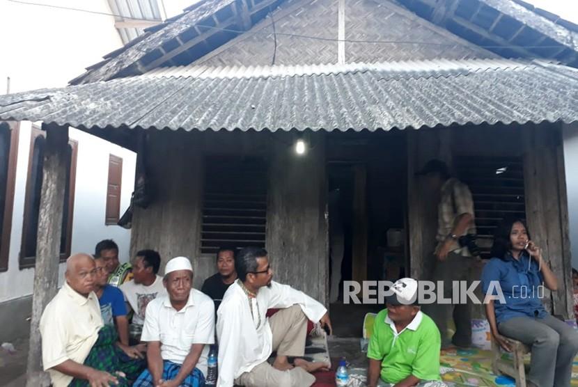 Rumah Lalu Muhammad Zohri di Dusun Karang Pangsor, Desa Pemenang Barat, Kecamatan Pemenang, Kabupaten Lombok Utara, NTB.