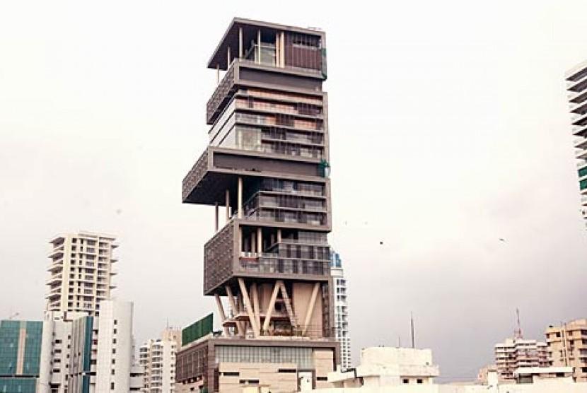 Rumah Mukesh Ambani di Mumbai India