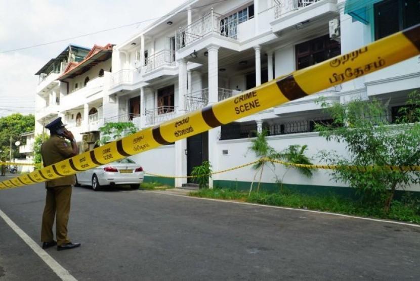 Rumah pelaku pengeboman di gereja dan hotel di Sri Lanka.