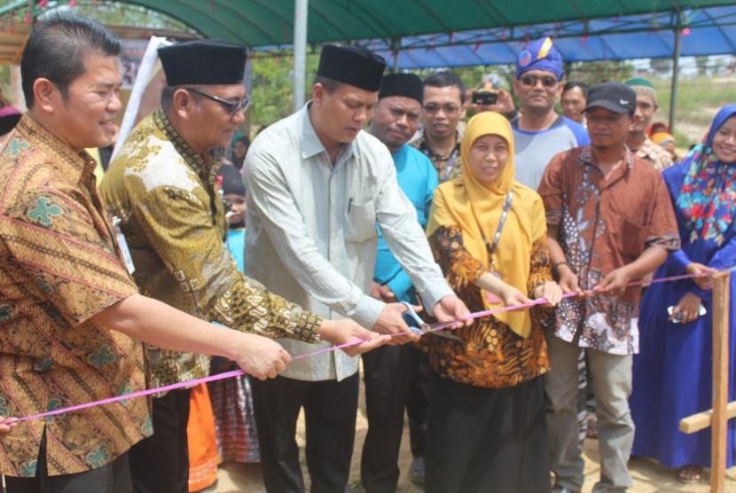 Rumah Zakat melakukan peresmikan pembangunan gedung baru Sekolah Juara di Batam.