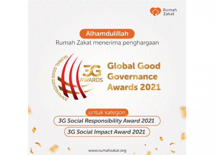 Rumah Zakat Terima Global Good Governance Awards 2021