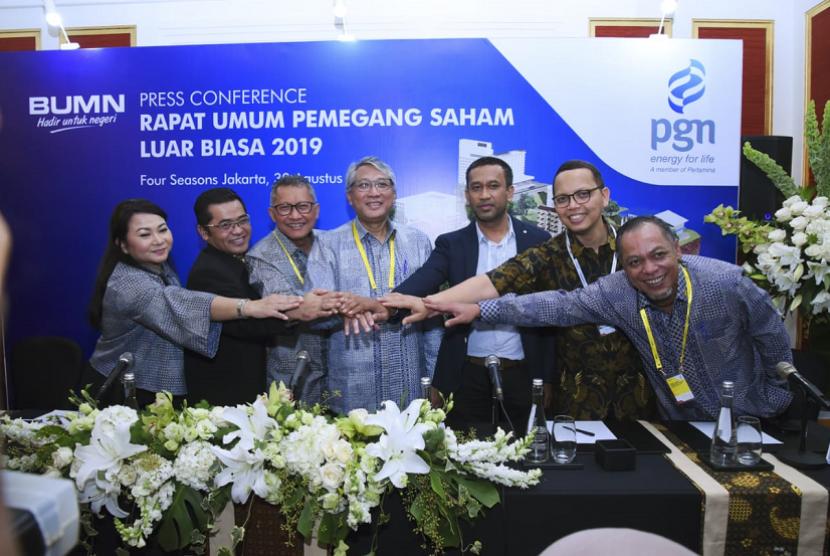 RUPSLB PGN di Jakarta, Jumat (30/8)