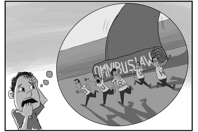 RUU Omnibus Law Cipta Kerja bikin cemas pekerja. Namun, hasil survei Departemen Statistika IPB dan Cyrus Network menunjukkan mayoritas responden pekerja dan pencari kerja di Indonesia cenderung tidak menolak RUU Cipta Kerja.
