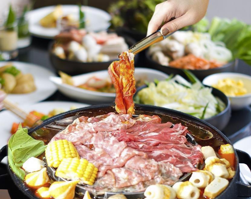 Sajian Korean BBQ dan Shabu Swiss Belboutique Yogyakarta.