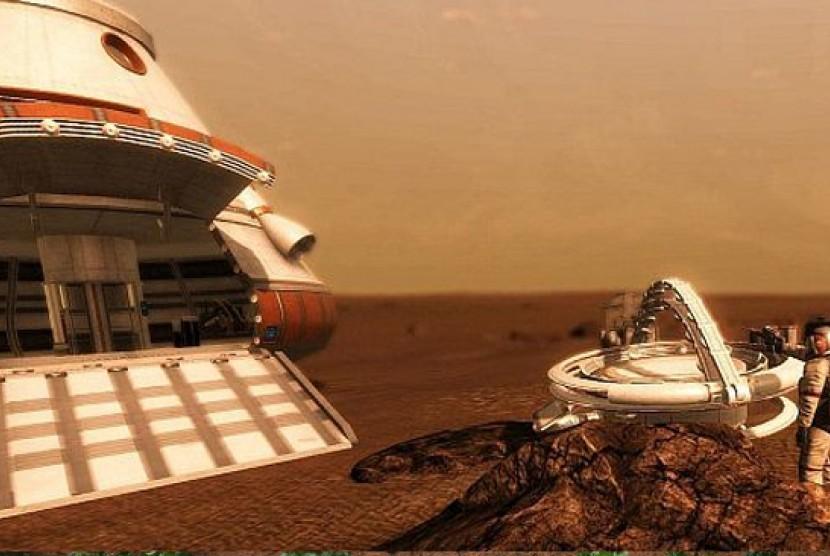 Salah satu adegan dalam film The Martian