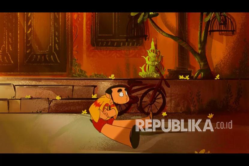 Salah satu cuplikan film animasi KIWA - The Adventure of Dayu and Ong karya siswa SMK Negeri 4 Kota Malang.
