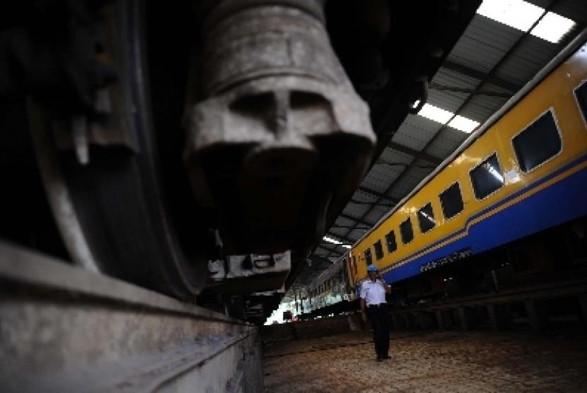 Salah satu gerbong kereta PT KAI.