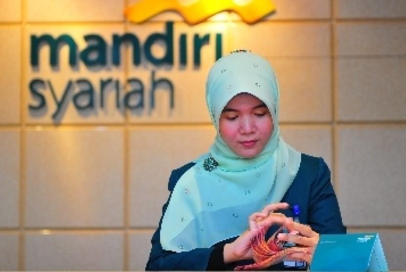 Salah satu kantor cabang Bank Syariah Mandiri.