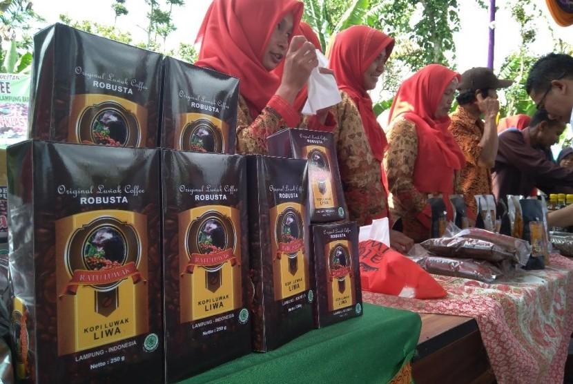 Salah satu kopi robusta yang dihasilkan oleh para petani di Kabupaten Lampung Barat