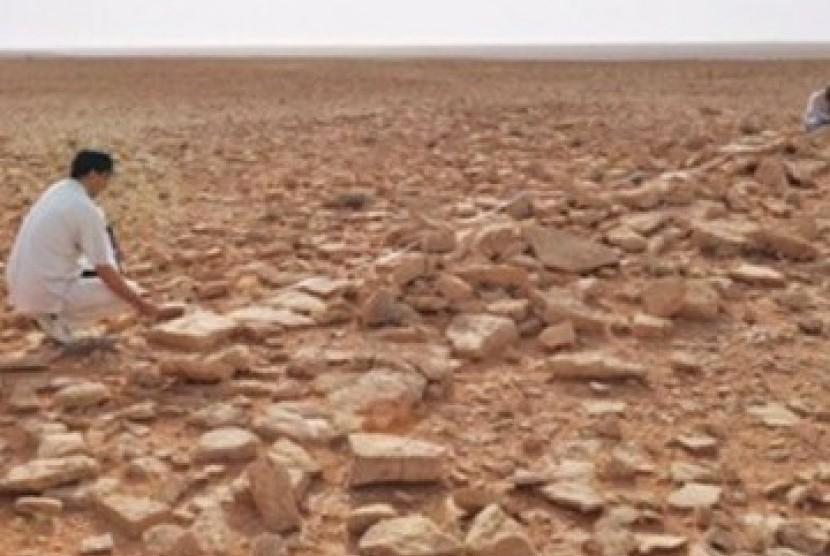 Salah satu situs arkeologi di sekitar Riyadh / ilustrasi
