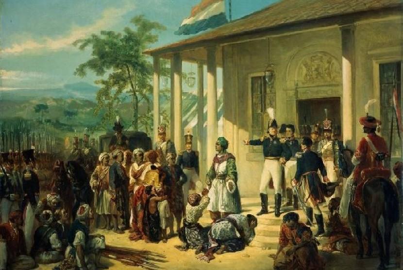 Salah satu lukisan penangkapan Pangeran Diponegoro