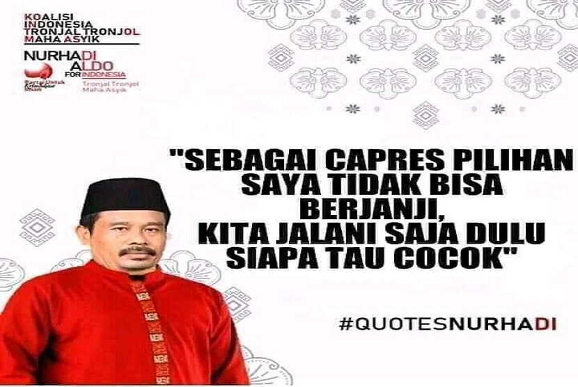 Salah satu meme pasangan calon presiden fiktif Nurhadi-Aldo