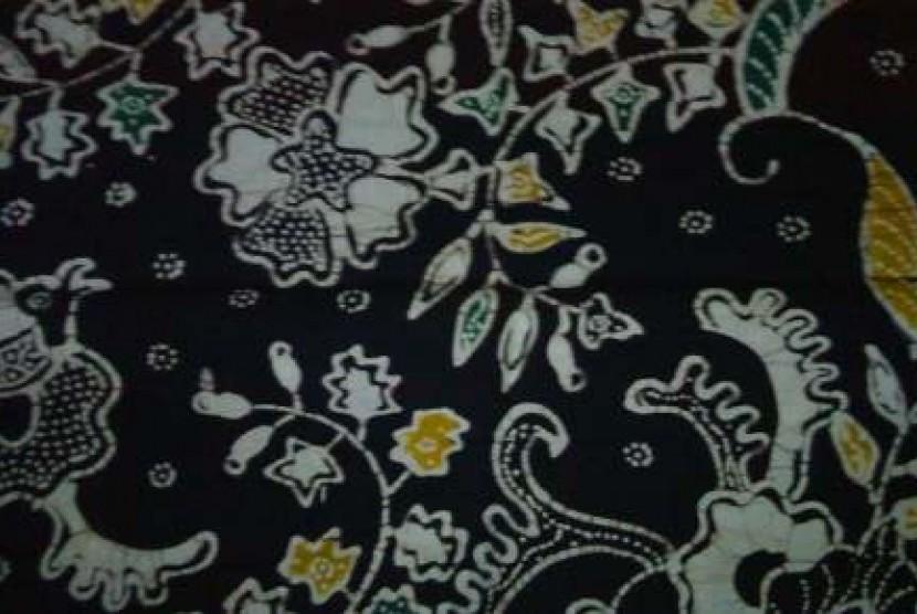Salah satu motif batik tulis tancep dari Gunung Kidul