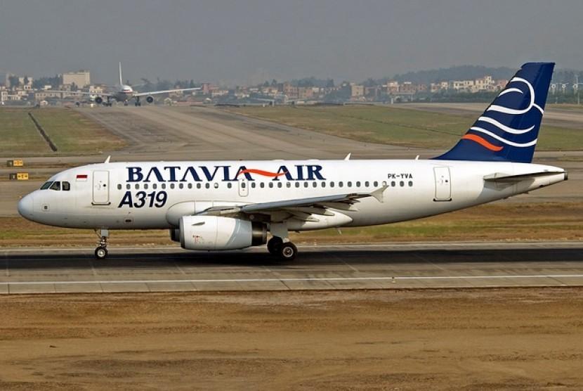 Salah satu pesawat Batavia Air (ilustrasi).