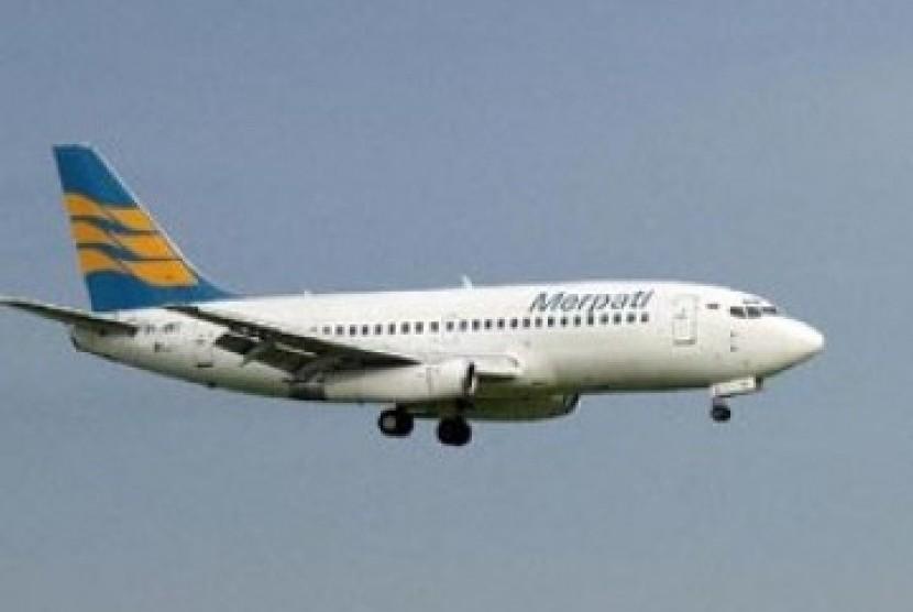 Salah satu pesawat terbang milik maskapai Merpati Airlines.