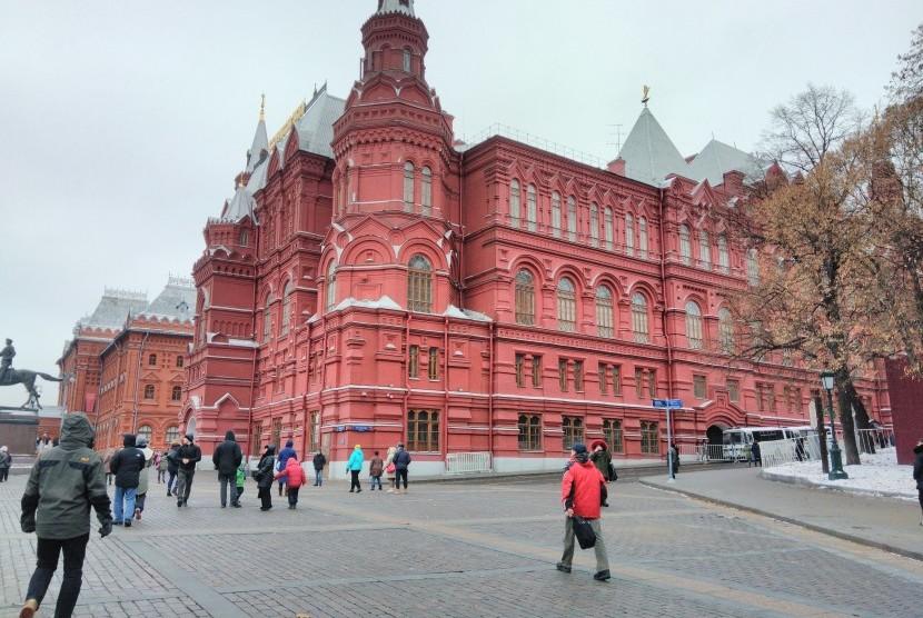 Salah satu sudut kompleks Kremlin Moskow, Rusia