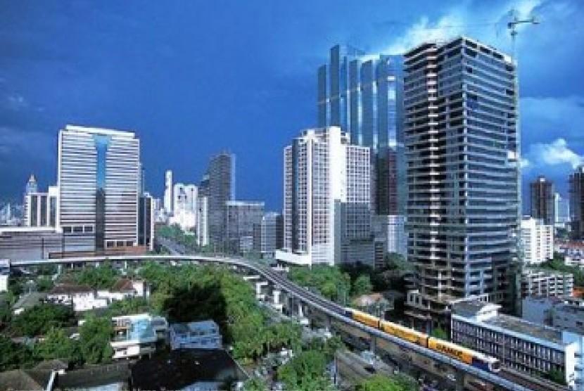 Salah satu sudut Kota Bangkok.