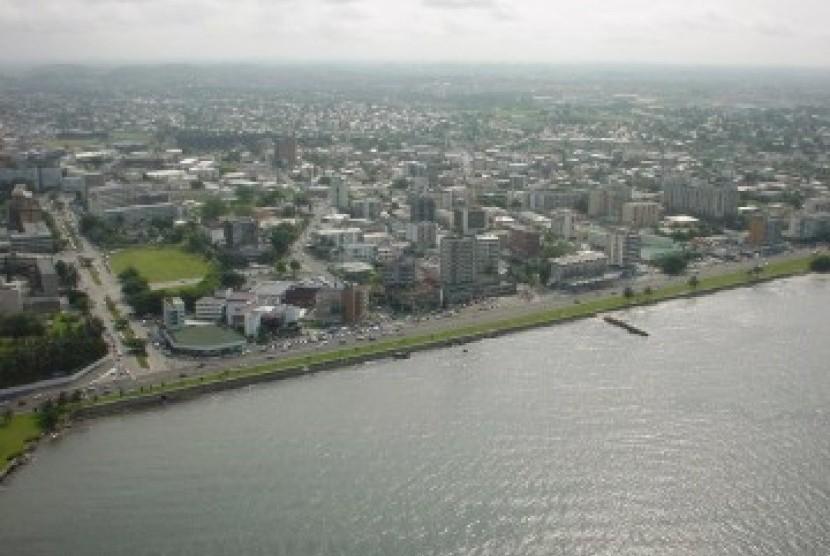 Salah satu sudut kota Libreville, ibukota Gabon