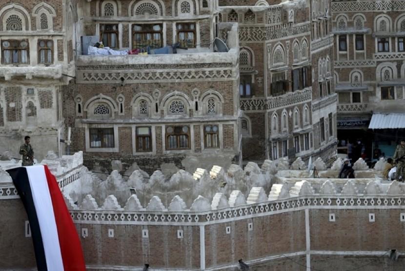 Salah satu sudut Kota Sanaa di Yaman
