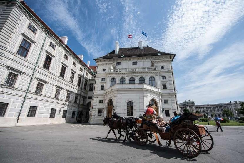 Salah satu sudut kota Wina, Austria.