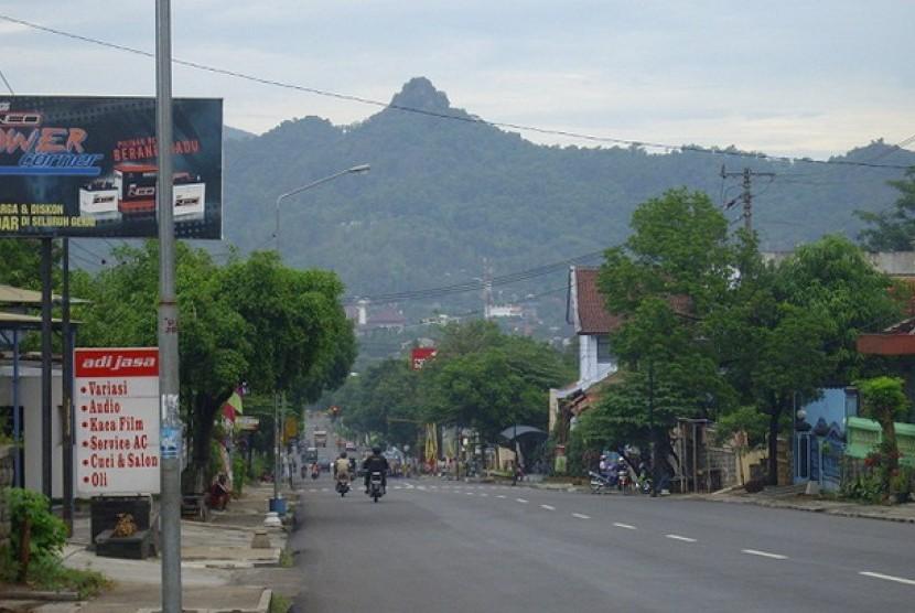 Salah satu sudut kota Wonogiri.