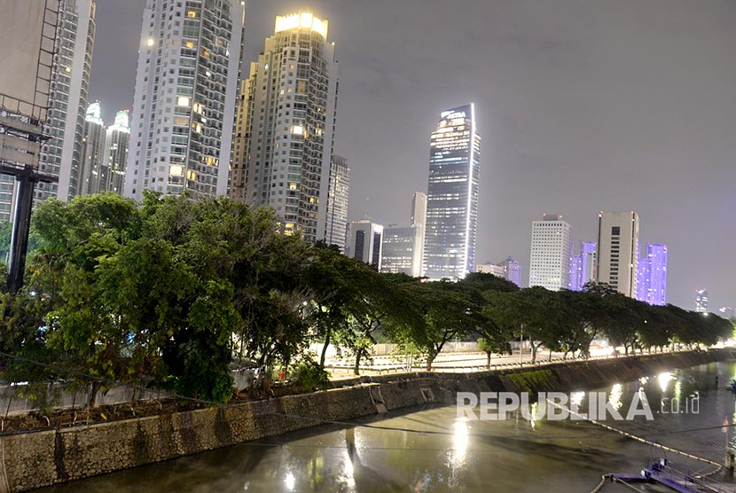 One of the city parks in Jakarta, Indonesia.
