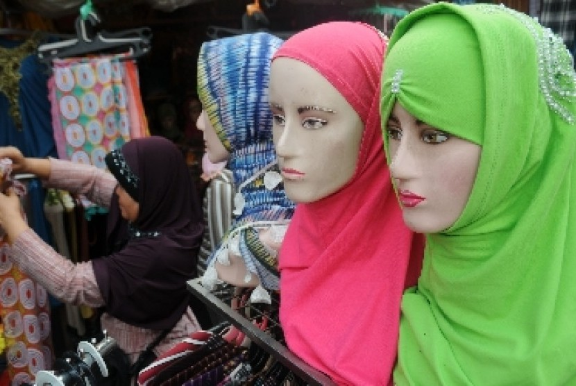 Salah satu toko busana Muslim (ilustrasi).