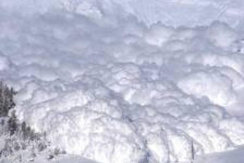 Salju longsor (ilustrasi)