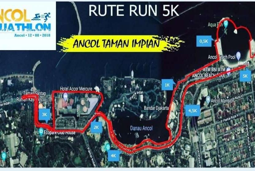 Sambut Asian Games 2018, Ancol Selenggarakan Aquathlon, Lari dan renang.