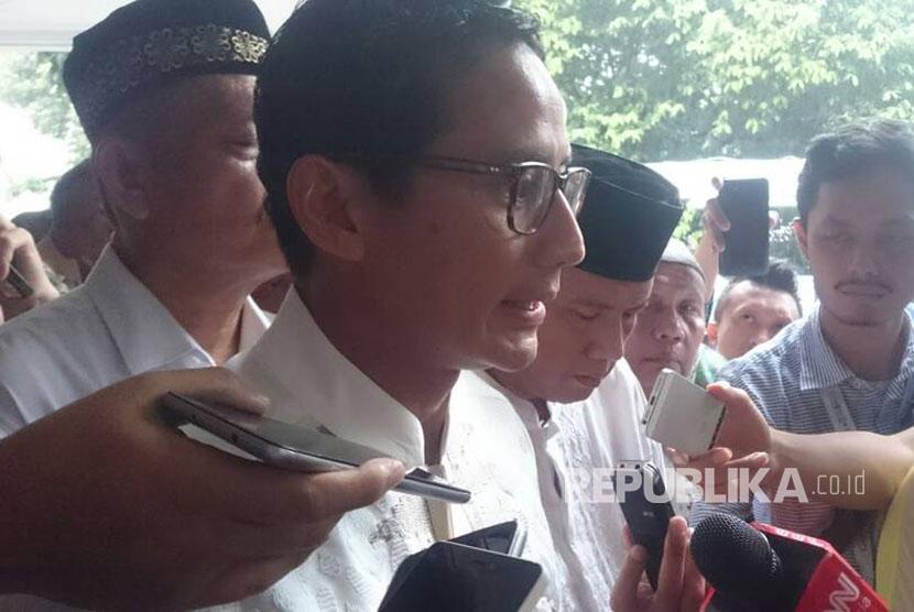 Calon Wakil Gubernur DKI Jakarta Sandiaga Salahuddin Uno.