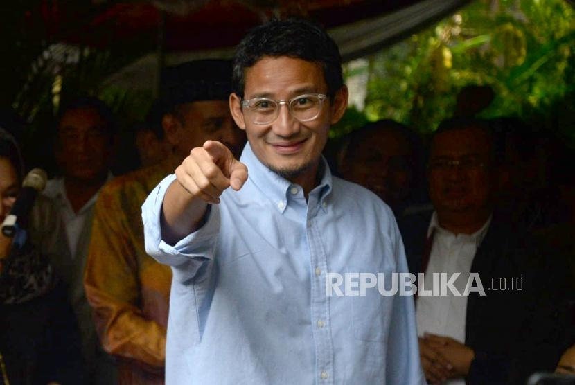Sandiaga Uno Tantang DPRD DKI Pilih Wagub Secara Online