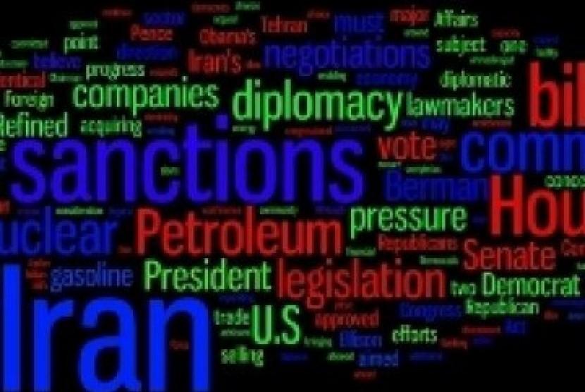 Sanksi terhadap Iran (ilustrasi)