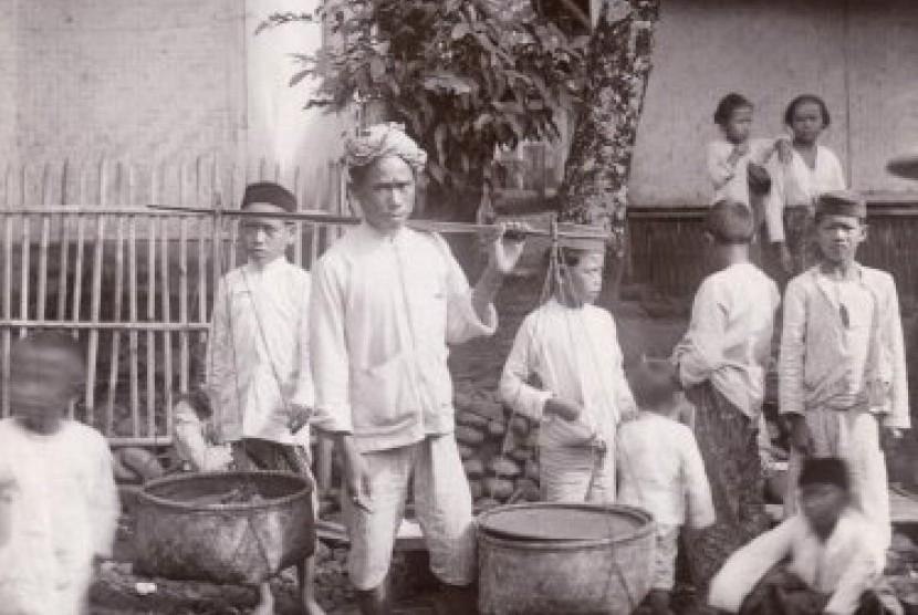 Santri dan suasana pedesaan di Banten 1910-an.
