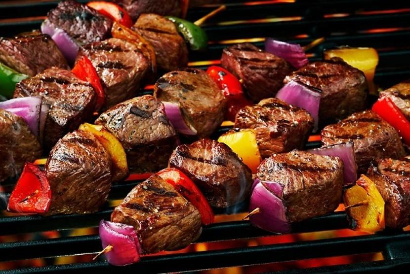 Sate daging sapi panggang