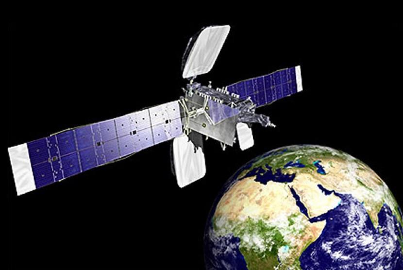 Satelit Komunikasi. Ilustrasi.