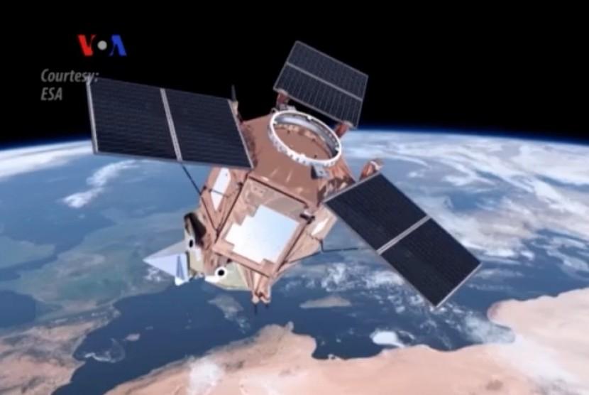 Satelit pemantau polusi (ilustrasi)