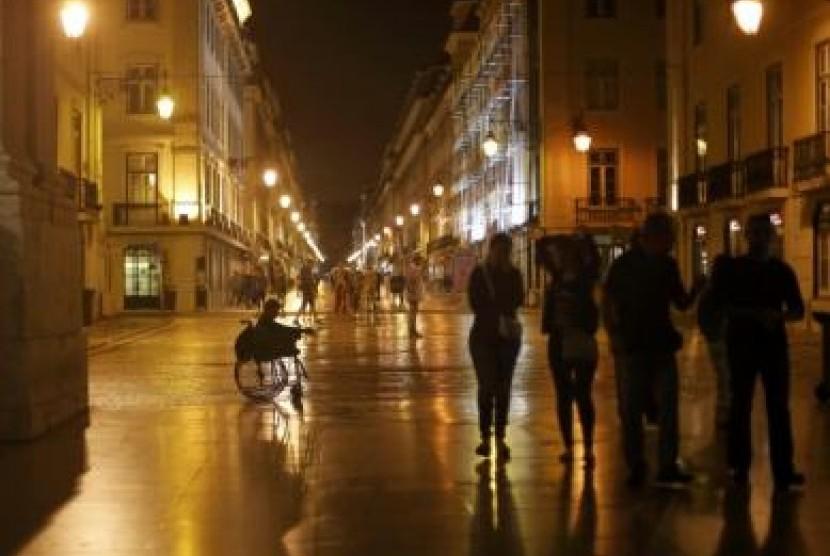 Satu sudut di kota Lisbon