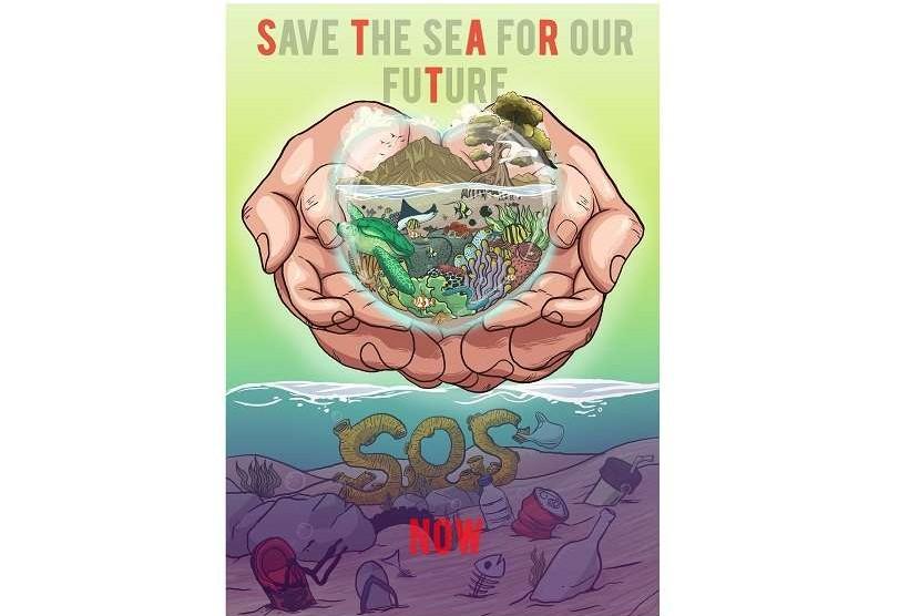 Juara Pertama Lomba Poster Save The Sea For Our Future