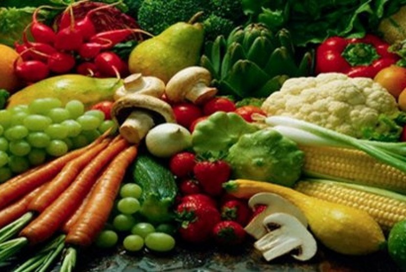 Sayuran dan buah produk hortikultura (ilustrasi)
