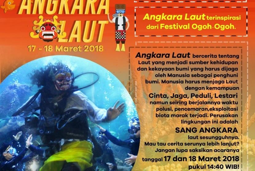 Seaworld Ancol menghadirkan cerita 'Angjara Laut' untuk memeriahkan libur dalam rangka Hari Raya Nyepi.