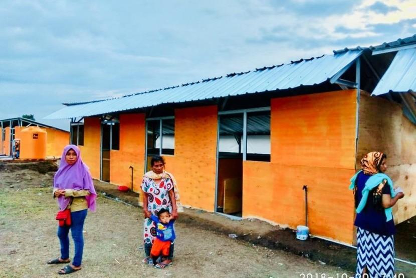 Sebanyak 100 huntara untuk 100 kepala keluarga yang terkena dampak gempa dan tsunami di Petobo, Kota Palu telah selesai dibangun Rumah Zakat.
