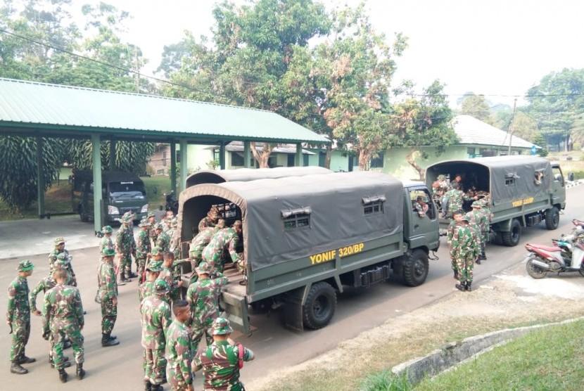 Sebanyak 2 SSK prajurit Korem 064 Maulana Yusuf Banten diterjunkan ke lokasi gempa bumi 7,4 SR.