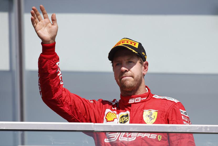 Vettel Akui Bersalah Tabrak Verstappen di GP Inggris | Republika ...