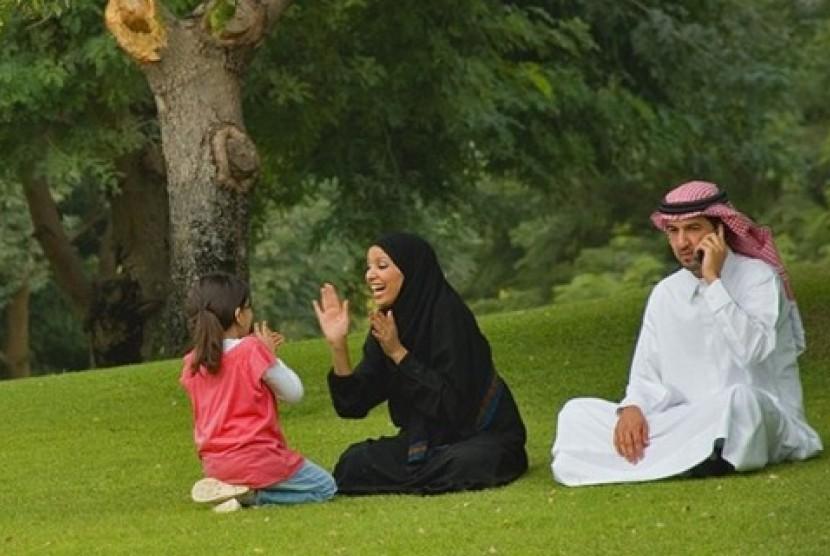Sebuah keluarga di Arab Saudi (ilustrasi)