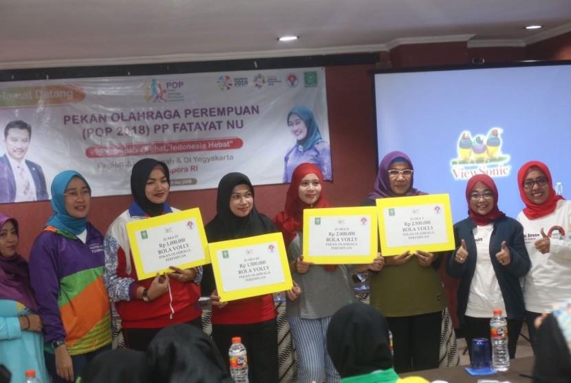 Sejak dimulai pada tanggal 5-9 Mei, Pekan Olahraga Perempuan Fatayat NU region Jateng-DIY hari ini resmi ditutup.