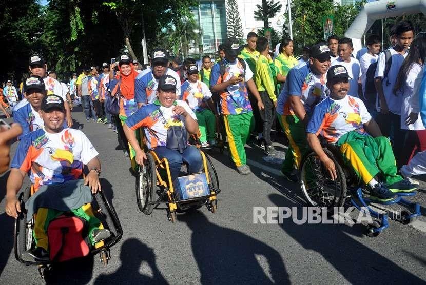Sejumlah atlet disabilitas (ilustrasi)