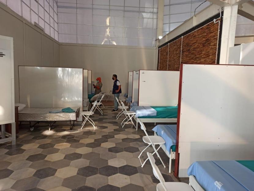 Sejumlah fasilitas di Rumah Lawan Covid-19, Serpong, Tangsel.