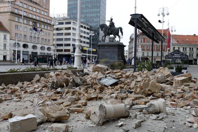 Gempa Susulan Getarkan Ibu Kota Kroasia Republika Online